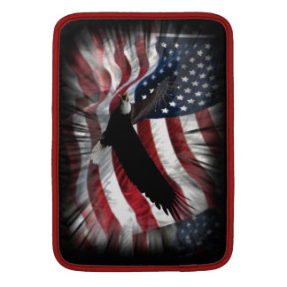 Old Glory with Eagle MacBook Sleeve