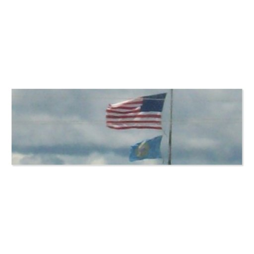 Old Glory With South Dakota Business Cards