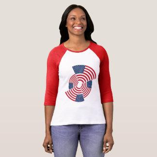 Old Glory Women's 3/4 Sleeve Raglan T-Shirt