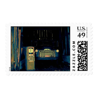 Old GMC Farming Truck Postage Stamp