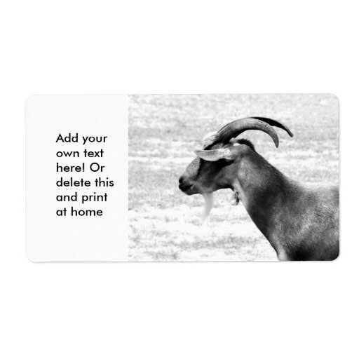 Old Goat Shipping Label