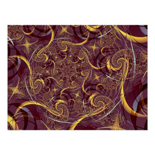 Old Gold Abstract Art Poster