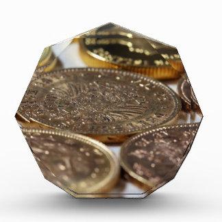 Old Gold Coins Acrylic Award