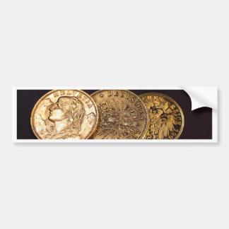Old Gold Coins Bumper Sticker