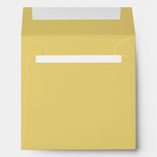 Old Gold Color Square Envelope