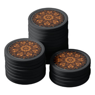 old gold copper medallion clay poker chips - Clay Poker Chips