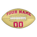 OLD GOLD CRIMSON RED AND WHITE Custom Football