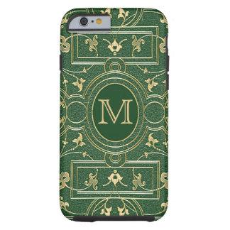 Old Gold Emerald Monogram Tough iPhone 6 Case