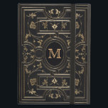 """Old Gold Monogram iPad Air Cover<br><div class=""""desc"""">The gilding on this ornate book cover is approximately 200 years old. This is authentic, but you can make it your own by choosing the background colour, which was originally black, by clicking on the &#39;customise&#39; button. Personalise by adding your own monogram on both sides of the cover. Choosing a...</div>"""