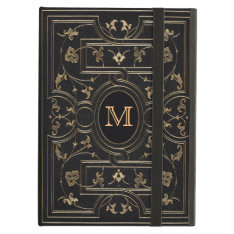 Old Gold Monogram Ipad Air Covers at Zazzle