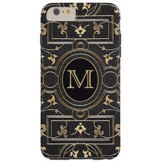Old Gold Monogram Tough iPhone 6 Plus Case