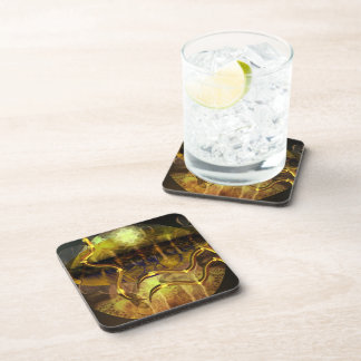 Old gold mystery drink coaster