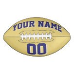 OLD GOLD NAVY AND WHITE Custom Football