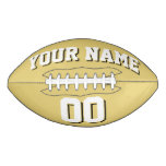 OLD GOLD WHITE AND BLACK Custom Football