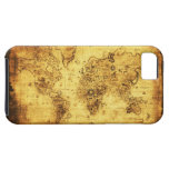 Old Gold World Map iPhone 5 Case