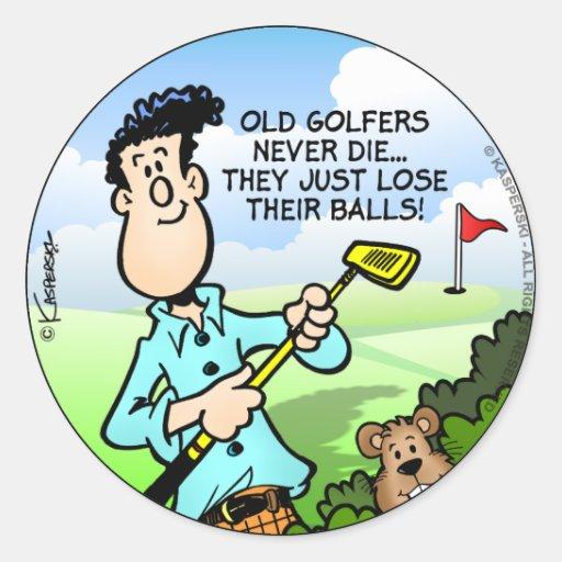 Old Golfer Classic Round Sticker