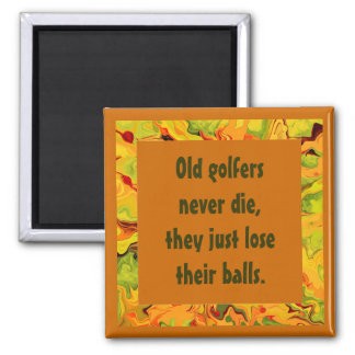 old golfers humor magnet