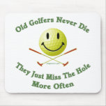Old Golfers Miss The Hole Mouse Pad