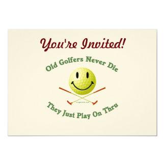 Old Golfers Never Die Play Thru Card
