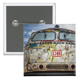 Old graffiti truck pinback button