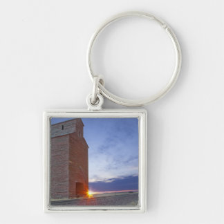Old granary at Collins Montana at sunrise Keychain