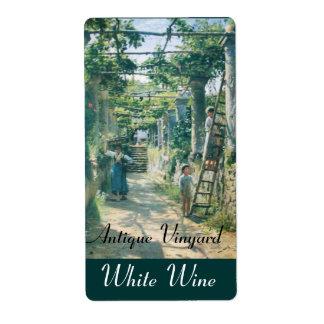OLD GRAPE VINEYARD HARVEST WINE TASTING PARTY LABEL
