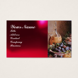 OLD GRAPE VINEYARD ,RED WAX SEAL BUSINESS CARD