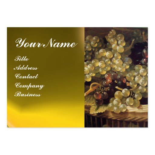 OLD GRAPE VINEYARD ,RED WAX SEAL LARGE BUSINESS CARD