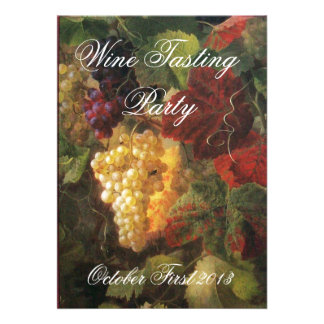 OLD GRAPE VINEYARD  WINE TASTING PARTY PERSONALIZED INVITATION