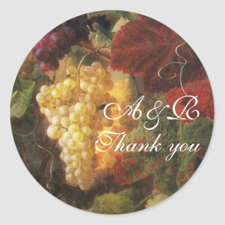 OLD GRAPE VINEYARD WINE TASTING PARTY,Thank You Classic Round Sticker