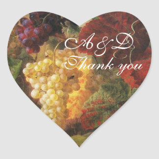OLD GRAPE VINEYARD WINE TASTING PARTY,Thank You Heart Sticker