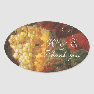 OLD GRAPE VINEYARD WINE TASTING PARTY,Thank You Oval Sticker