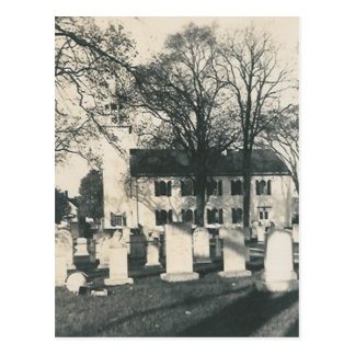 old graveyard post card