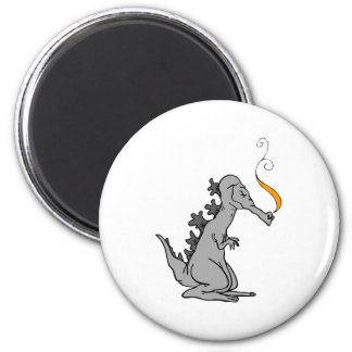 Old Gray Dragon Magnet