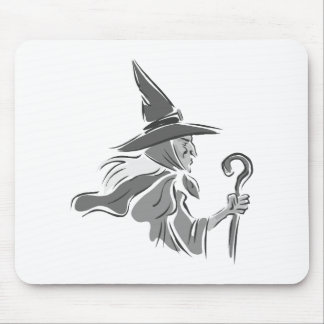 Old Gray Witch Mousepads