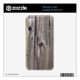 Old gray wood iPhone 4/4S skin iPhone 4S Decals