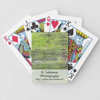 Old Green Grass Bicycle Playing Cards
