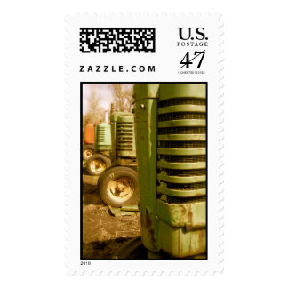 Old Green Tractor Grills Stamp