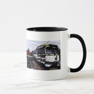 Old Green Trolly Mug