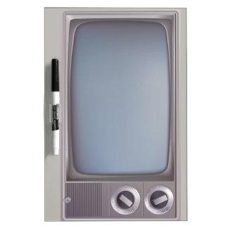 Old grey TV Pizarra Blanca