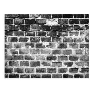 Old Grey Weathered Brick Wall Texture Postcard