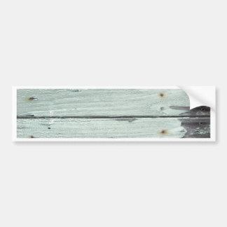 old grey wood bumper sticker