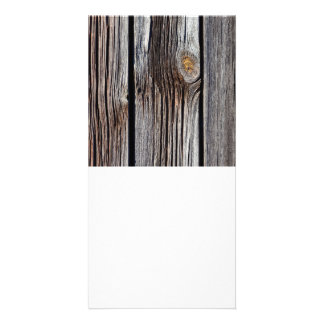 Old grey wooden boards card