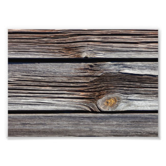Old grey wooden boards photo print