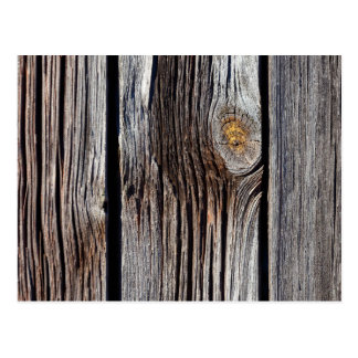 Old grey wooden boards postcard