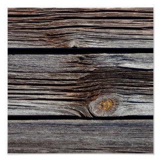 Old grey wooden boards poster