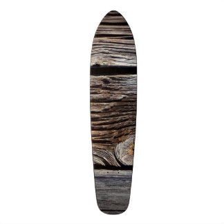 Old grey wooden boards skate boards