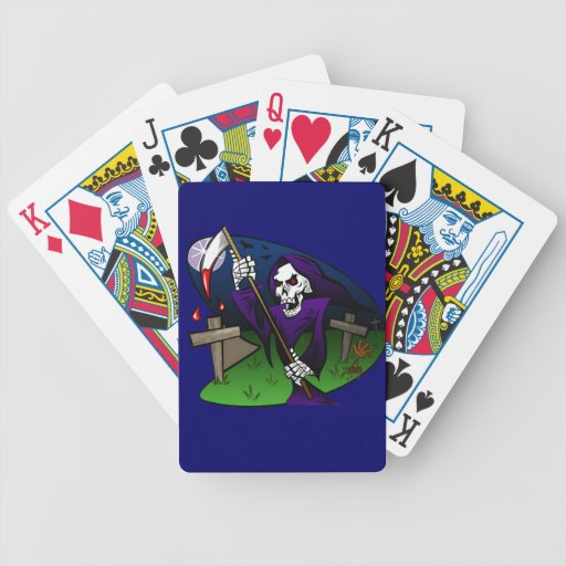 Old Grim Bicycle Playing Cards