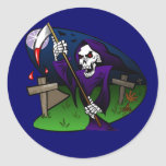 Old Grim Classic Round Sticker