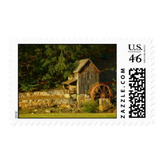 Old Grist Mill in GA Stamps